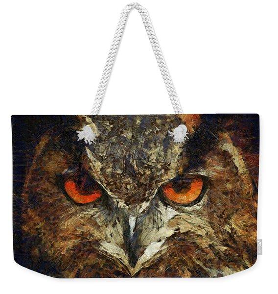 Sharpie Owl Weekender Tote Bag