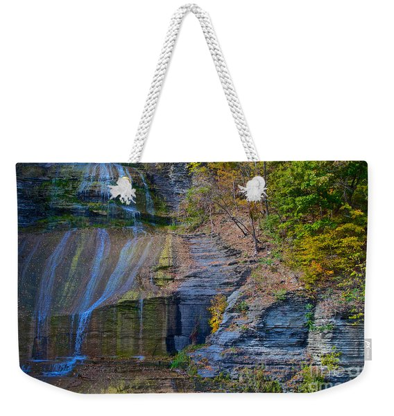 Weekender Tote Bag featuring the photograph She-qua-ga by William Norton