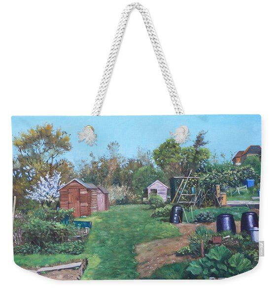 Sheds On Allotments At Southampton Weekender Tote Bag