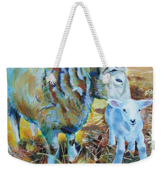 Sheep And Lamb Weekender Tote Bag