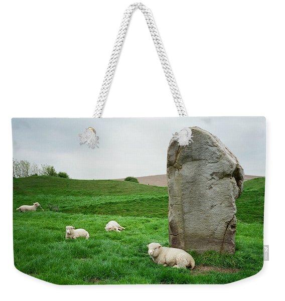 Sheep At Avebury Stones - Original Weekender Tote Bag