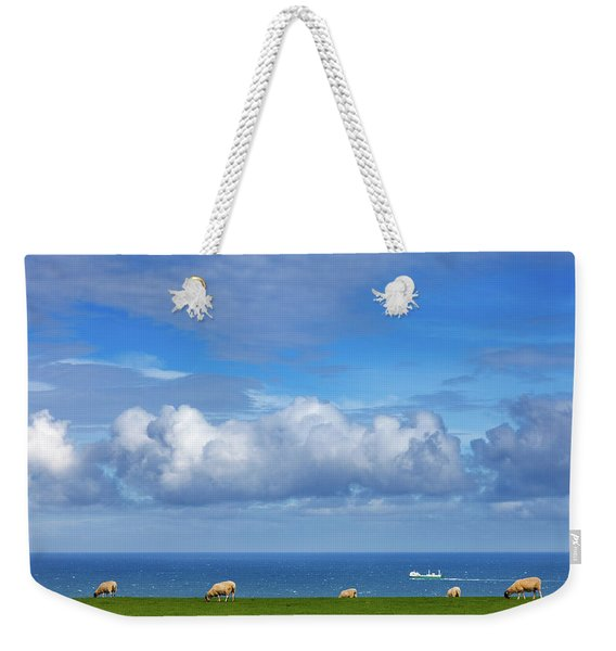Sheep Grazing On The North Yorkshire Weekender Tote Bag