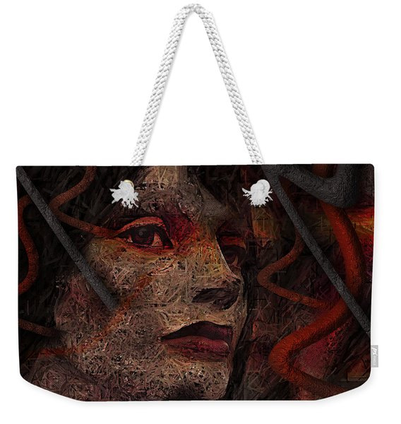 Shell Cyborg Portrait Weekender Tote Bag