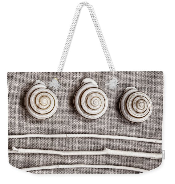 Shells And Sticks Weekender Tote Bag