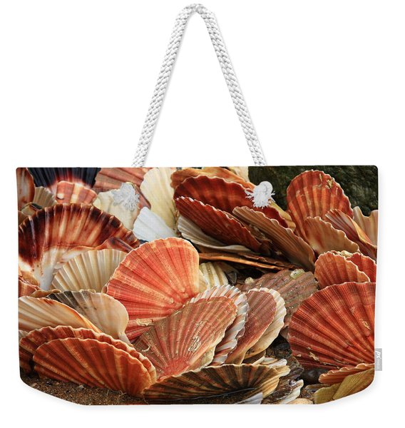 Shells On The Shore Weekender Tote Bag