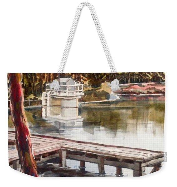 Shepherd Mountain Lake In Twilight Weekender Tote Bag
