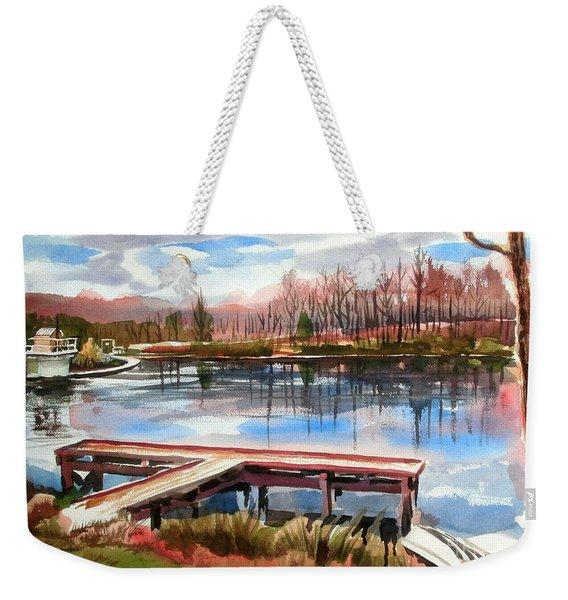 Shepherd Mountain Lake In Winter Weekender Tote Bag