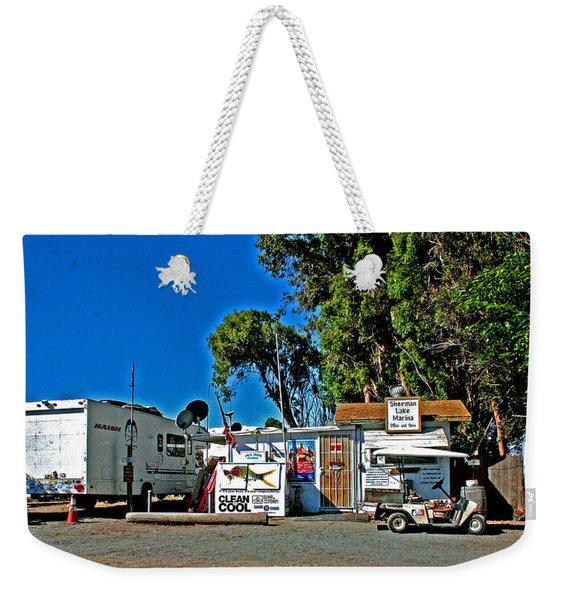 Sherman Lake Marina Weekender Tote Bag