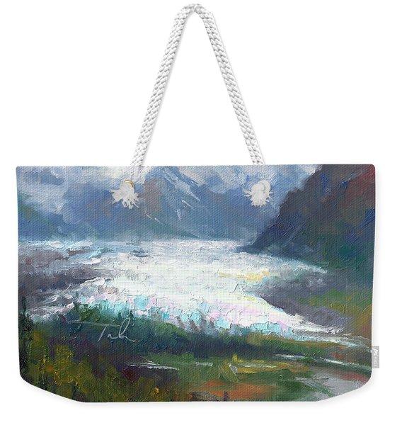 Shifting Light - Matanuska Glacier Weekender Tote Bag
