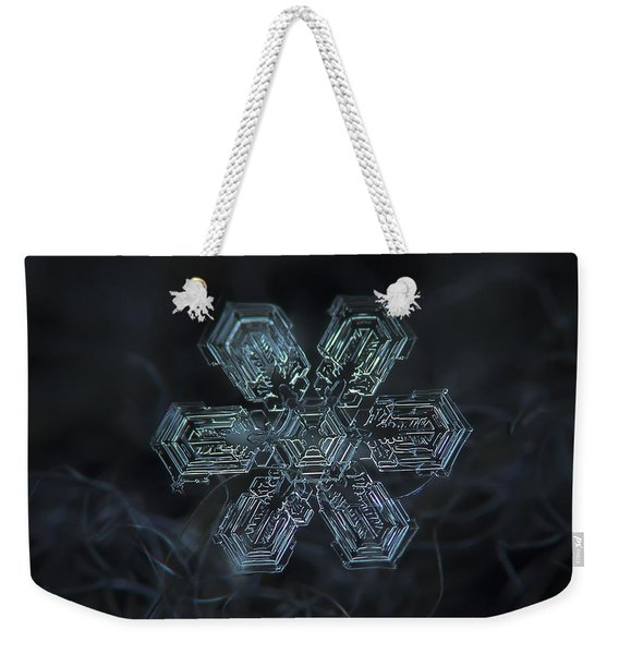 Snowflake Photo - Shine Weekender Tote Bag