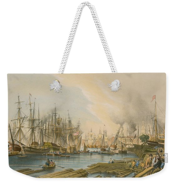 Ship Building At Limehouse Weekender Tote Bag