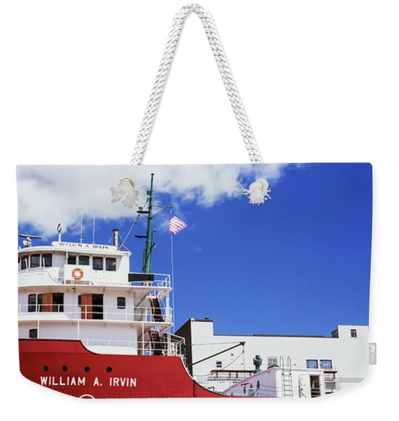 Ship Museum At A Harbor, William A Weekender Tote Bag