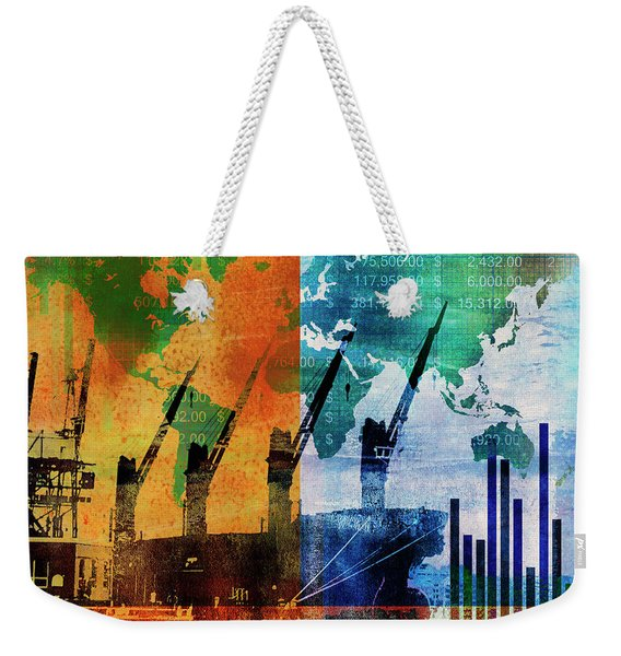 Shipping And Global Trade Weekender Tote Bag