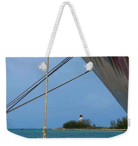 Ship's Ropes And Lighthouse Weekender Tote Bag