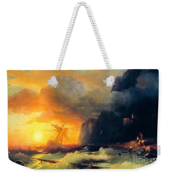 Shipwreck At Mount Athos Weekender Tote Bag