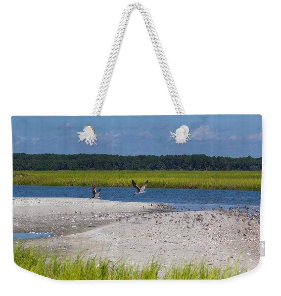 Shorebirds And Marsh Grass Weekender Tote Bag