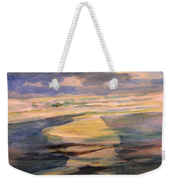 Shoreline Sunrise 11-9-14 Weekender Tote Bag