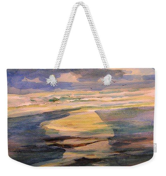 Shoreline Sunrise 11-9-14 Weekender Tote Bag