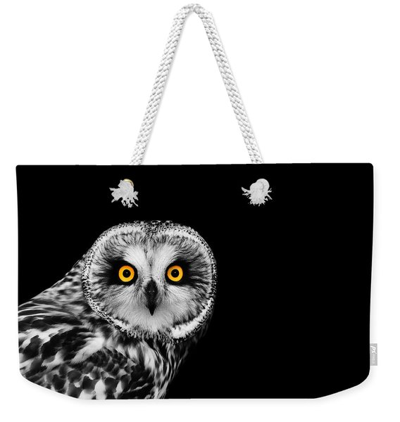 Short-eared Owl Weekender Tote Bag