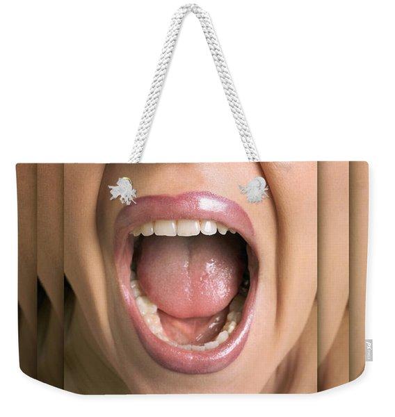 Shouting Woman Weekender Tote Bag