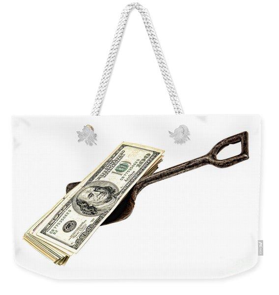 Shovel Of Dollar Weekender Tote Bag