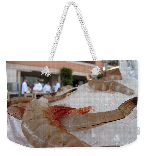 Shrimp On Ice Weekender Tote Bag