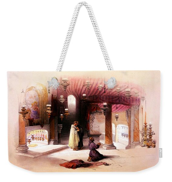 Shrine Of The Nativity Bethlehem April 6th 1839 Weekender Tote Bag