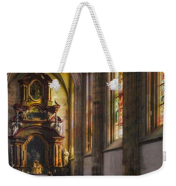 Side Chapel Of St Barbara Weekender Tote Bag