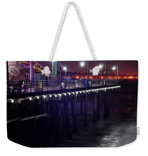Side Of The Pier - Santa Monica Weekender Tote Bag