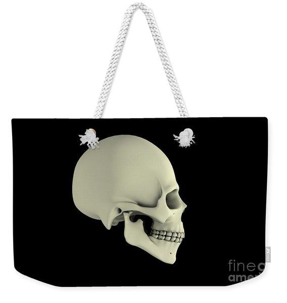 Side View Of Human Skull Weekender Tote Bag