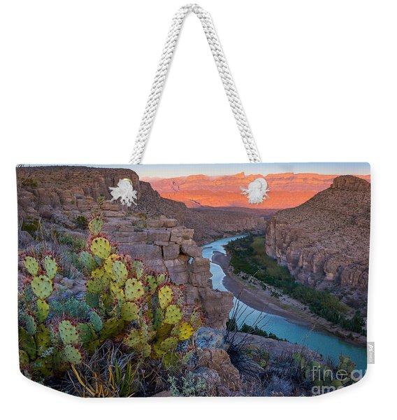 Sierra Del Carmen And The Rio Grande Weekender Tote Bag