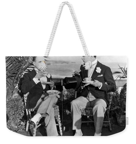 Silent Film Tea Time Weekender Tote Bag