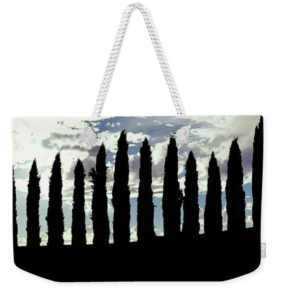 Silhouette Of Cypress Trees Weekender Tote Bag