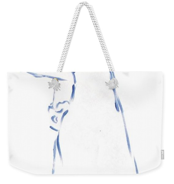 Silhouetted Woman Standing Weekender Tote Bag
