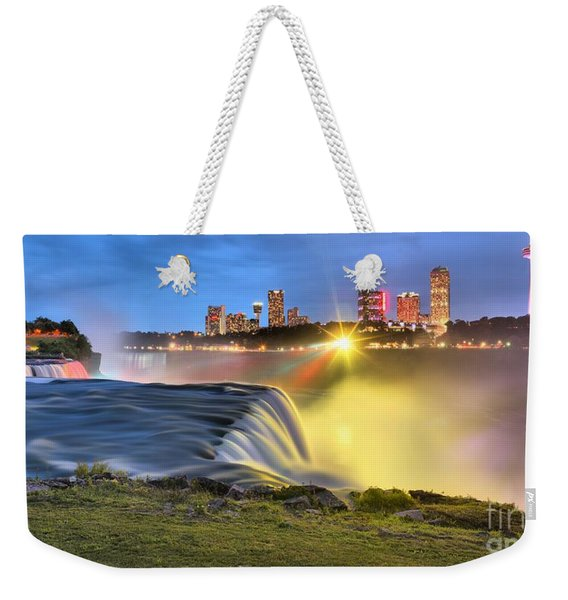 Silky Niagara Falls Panoramic Sunset Weekender Tote Bag