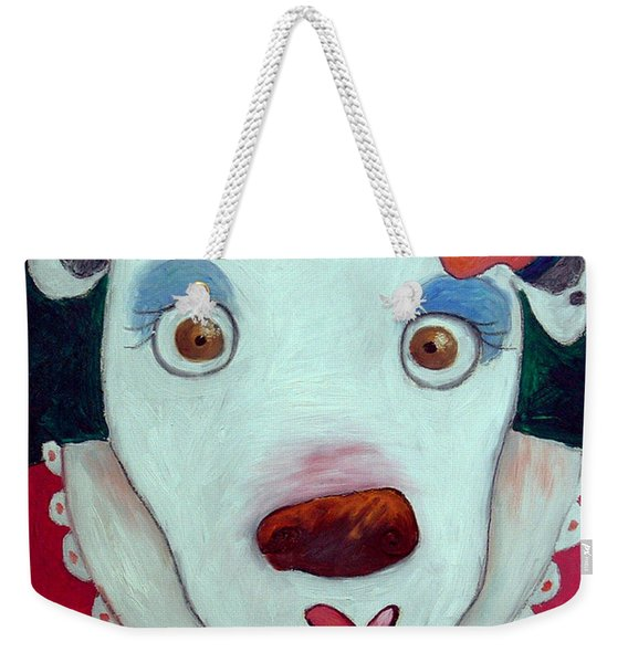 Silly Cow Oil On Canvas Weekender Tote Bag