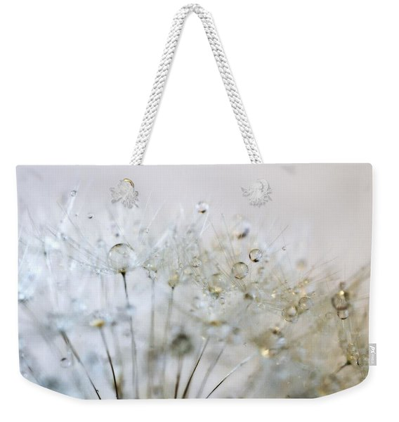 Silver And Gold Weekender Tote Bag