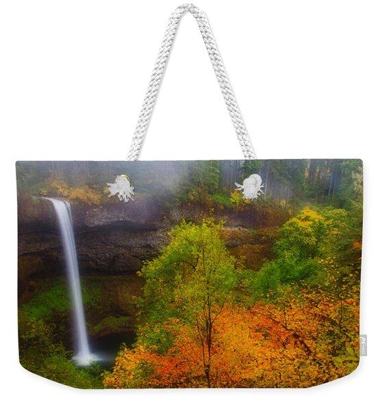 Silver Falls Pano Weekender Tote Bag