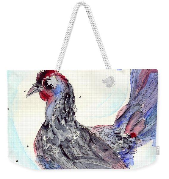 Silver Hen Weekender Tote Bag