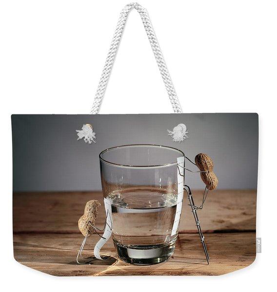 Simple Things - Half Empty Or Half Full Weekender Tote Bag