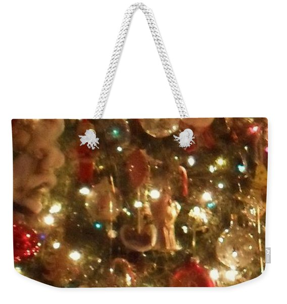 Weekender Tote Bag featuring the photograph Simply Santa by Laurie Lundquist