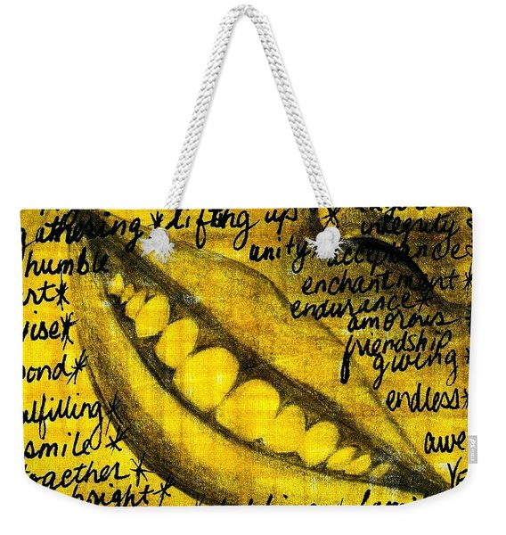 Simply Smile And Your Golden Virtues Will Be Written All Over You Weekender Tote Bag