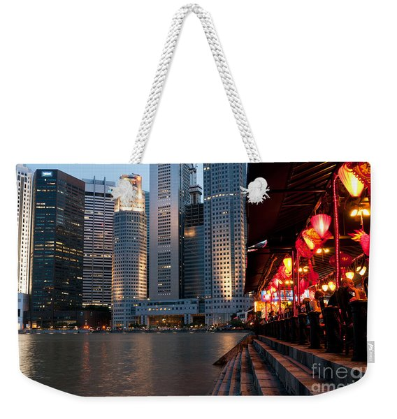Singapore Boat Quay 02 Weekender Tote Bag