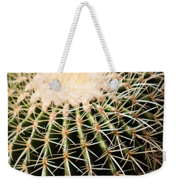 Weekender Tote Bag featuring the photograph Single Cactus Ball by John Wadleigh