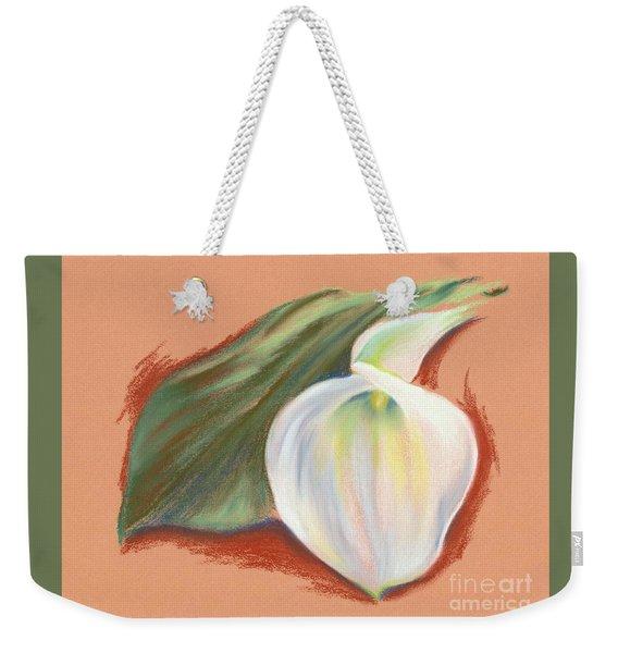 Single Calla Lily And Leaf Weekender Tote Bag