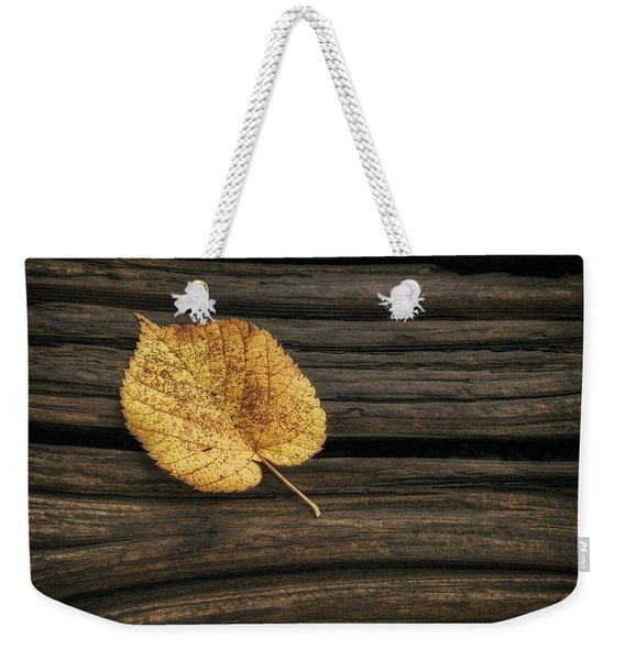 Single Yellow Birch Leaf Weekender Tote Bag