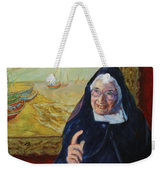 Sister Wendy Weekender Tote Bag