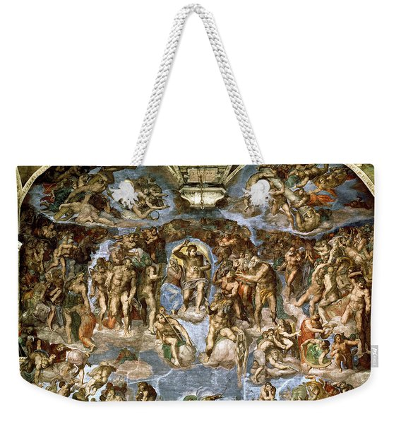 Sistine Chapel The Last Judgement, 1538-41 Fresco Pre-restoration Weekender Tote Bag