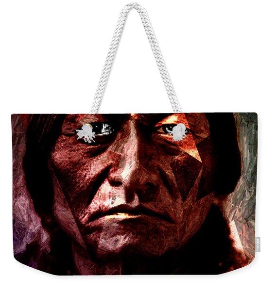Sitting Bull - Warrior - Medicine Man Weekender Tote Bag