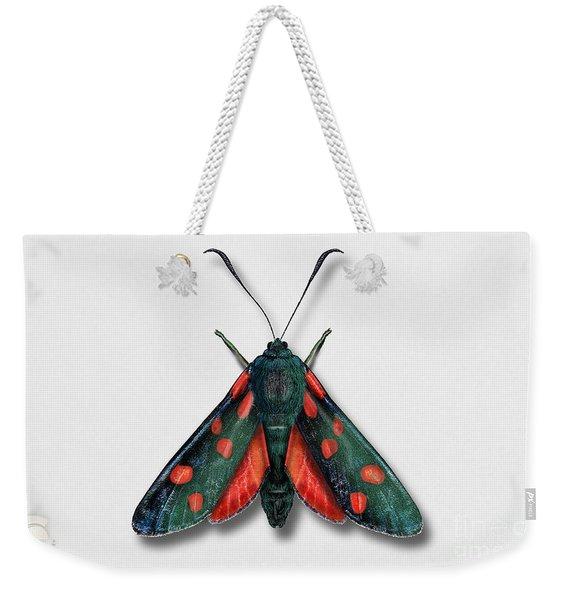 Six Spot Burnet Butterfly - Zygaena Filipendulae Naturalistic Painting - Nettersheim Eifel Weekender Tote Bag